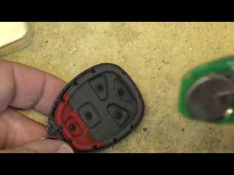 Key FOB button repair for rubber keypad remotes