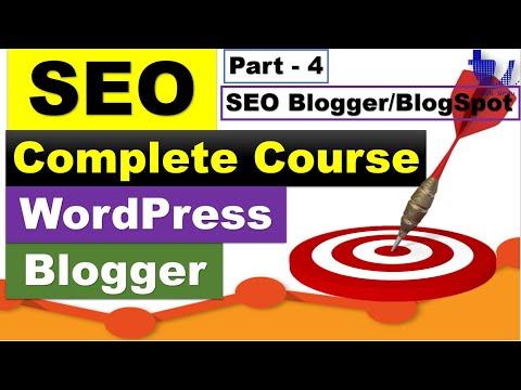 Complete SEO Course for WordPress & Blogger | Part 4 - Blogger/BlogSpot SEO Settings [Urdu/Hindi]