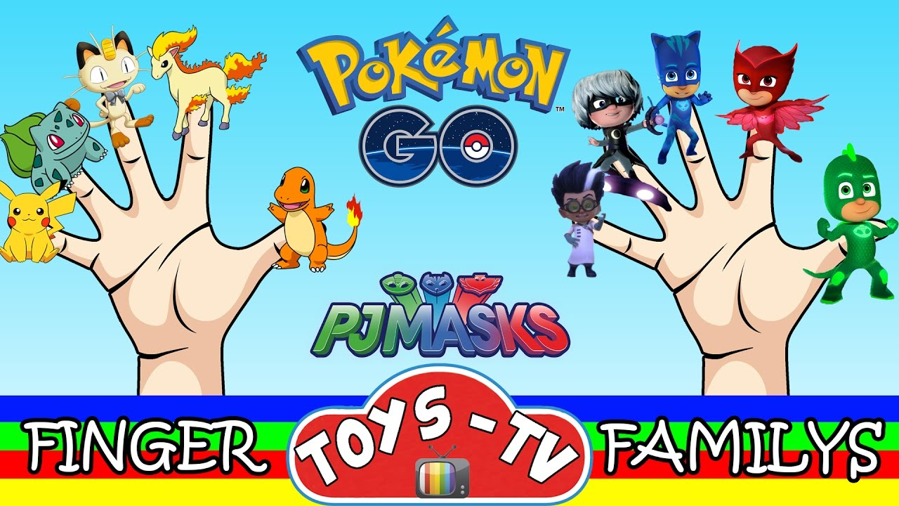 Pokemon Go Finger Family : Daddy Finger Nursery Rhymes