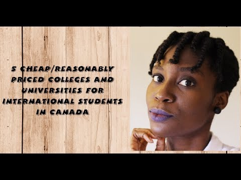 5 Cheap/reasonably priced Colleges and Universities for International Students in Canada