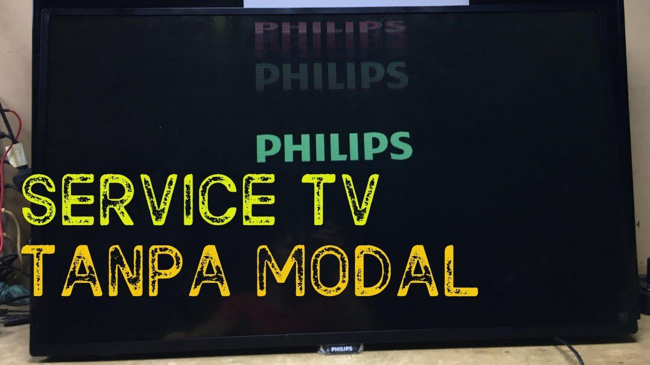 Solusi Tv Led Philips Gambar Double Bergetar Vlog#81