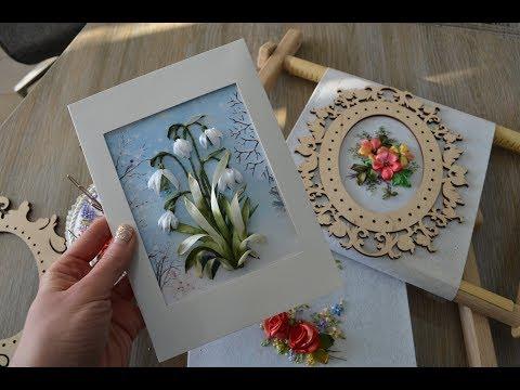 Вышивка лентами - подснежники\Ribbon Embroidery - Snowdrops