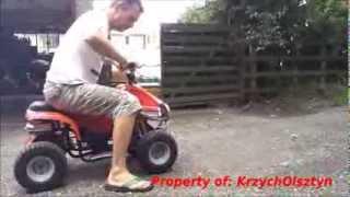 Romping on a 50cc ATV  / Quad