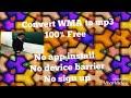 Convert wma to mp3-Free