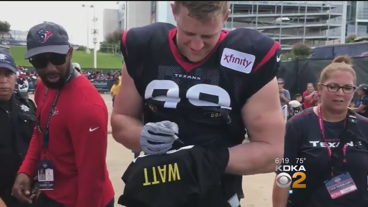 outlet store 46d7d d6d9b 'Wrong Brother!': J.J. Watt Jokes With Fan Asking Him To Sign Steelers  Jersey