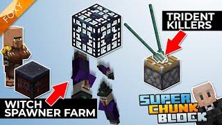 WITCH SPAWNER FARM | Super Chunk Block [7] | Modded Minecraft Bedrock Edition 1.14 SMP
