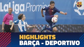 [HIGHLIGHTS] SEMIFINAL LALIGA PROMISES: FC Barcelona – Deportivo
