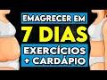 Exercícios para EMAGRECER EM 7 DIAS. Treino HIIT E DIETA para perder peso - Dia 02/07