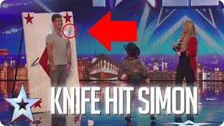 SIMON COWELL HIT BY KNIFE | Britain