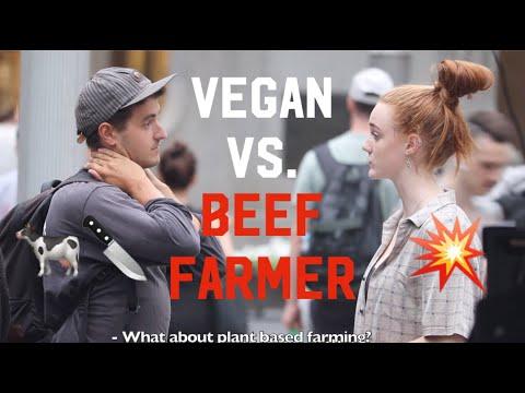 Vegan Activist VS BEEF FARMER
