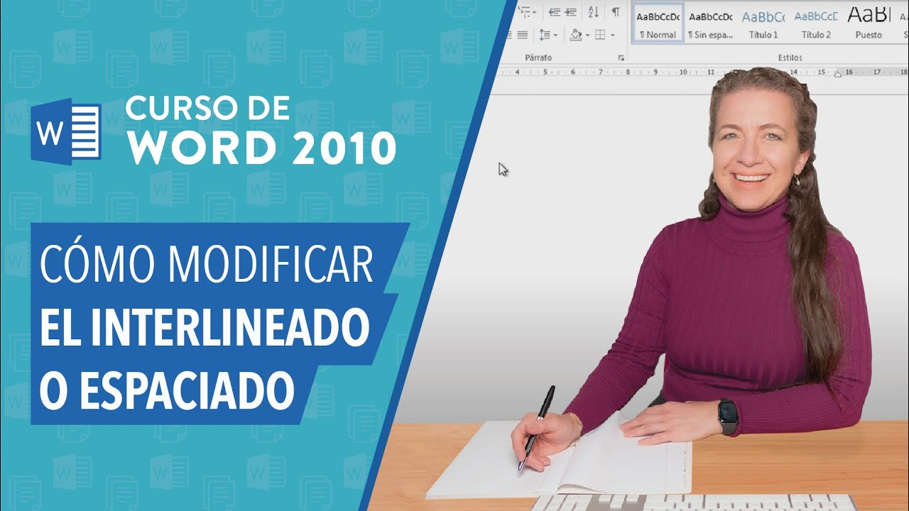 Word 2010 espaciado de texto youtube for En word cual es el interlineado