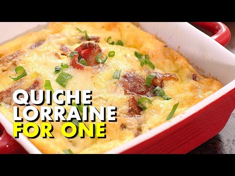 Quiche Lorraine For One