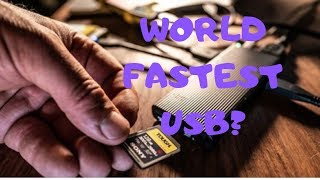 World Fastest SD Card Reader The Sony USB