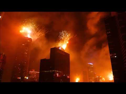 2018 New Year Eve Fireworks Melbourne Australia