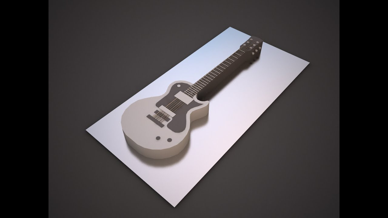 Guitarra 3D de fondant - YouTube