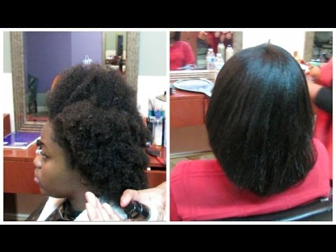 Straightening 4c Natural Hair Light Press Youtube