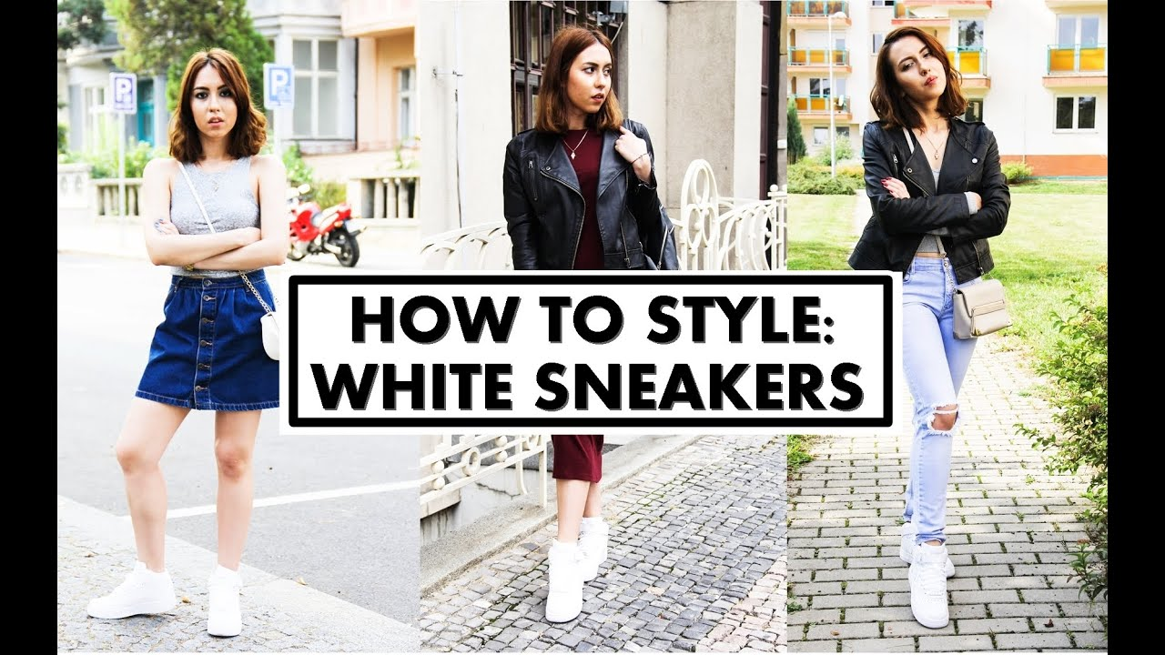 new product 9c2fd 13e7e HOW TO STYLE  WHITE SNEAKERS   Nike Air Force 1   Leila Mekhdiyeva