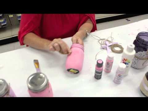 Crankin' Out Crafts ep425 Distressing Mason Jars