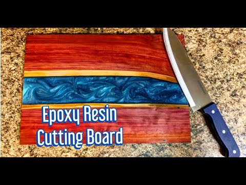 Wood \u0026 Epoxy River Cutting Board