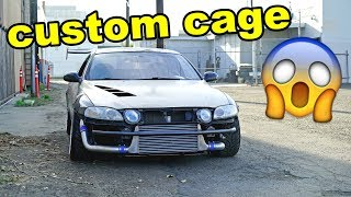 SC300 gets a CUSTOM ROLL CAGE!