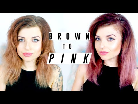 brown to pink hair helen anderson youtube