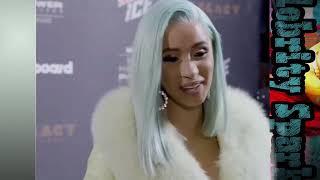 Cardi B new interview & Cyan blue hair Taki Taki - Celebrity Spark