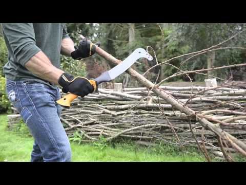 How to cut branches with Fiskars Brush Hook XA3
