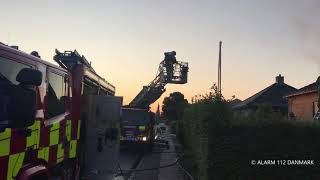 14.08.2019 - Voldsom brand i villa
