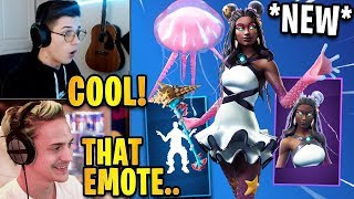 Streamers React to *NEW* Starfish Skin + Crabby Emote/Dance! | Fortnite Highlights & Funny Moments