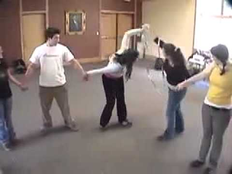 Circle Pass -- Duct Tape Teambuilding Game - YouTube