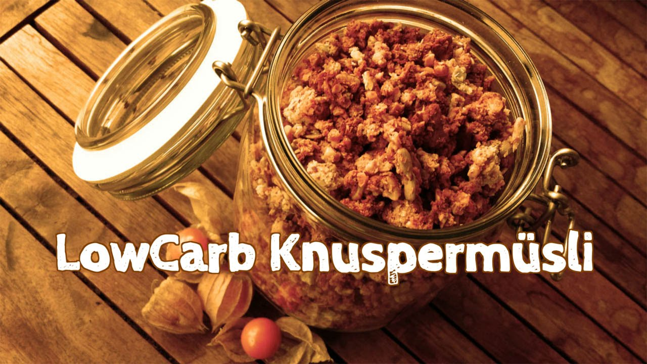 DIY Low Carb Müsli Knuspermüsli selber machen Crunchy Cereal
