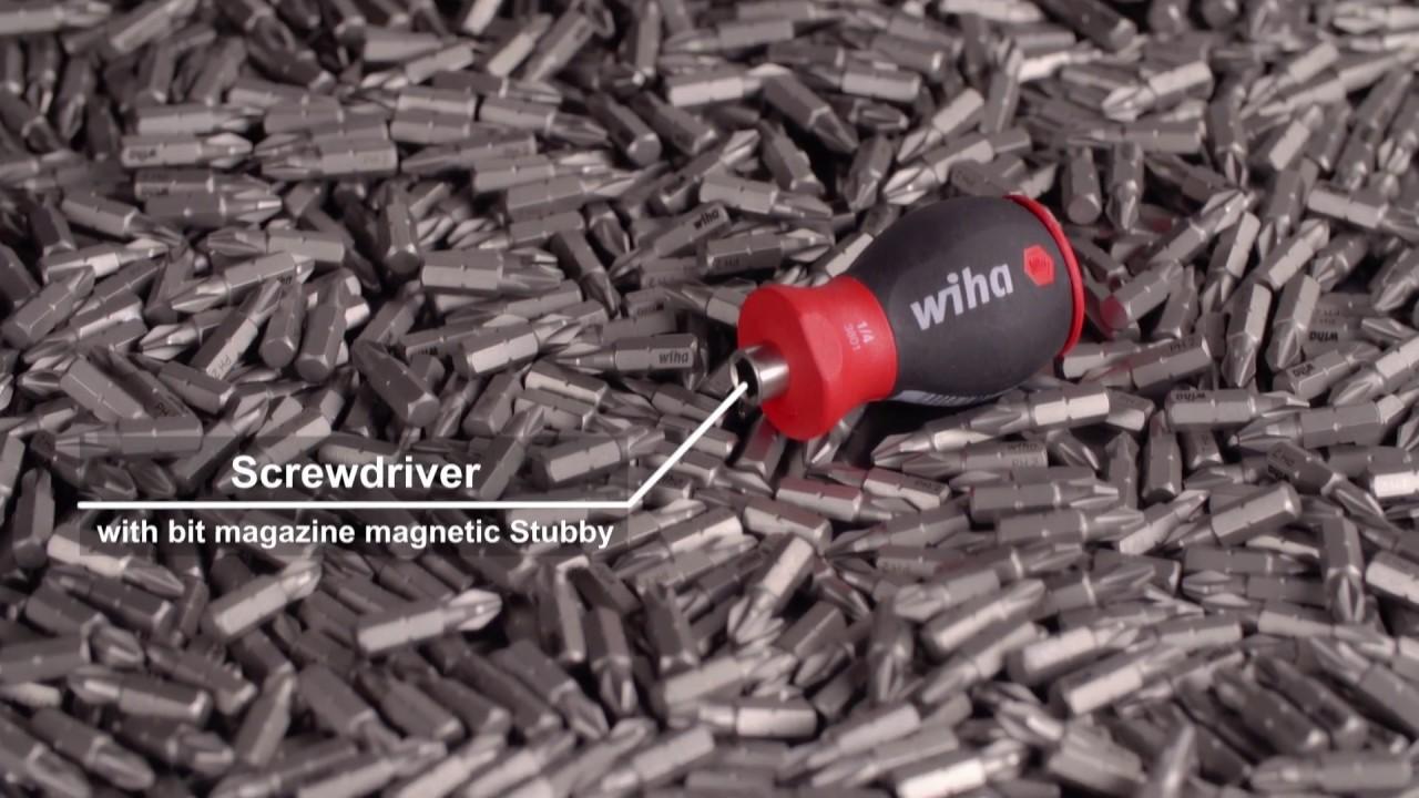 WIHA 33741 SB380102 Destornillador con cargador magn/ético SB 3801-02 Stubby 1//4 Ref