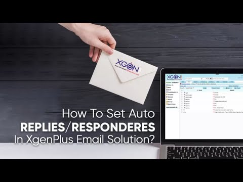 How To Set Auto Reply/ Response In XgenPlus Email Solution thumbnail