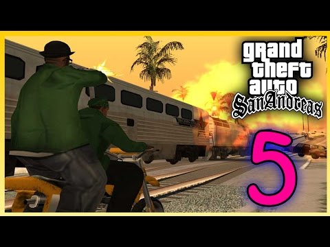 GTA San Andreas (5) MENGEJAR KERETA!! :O