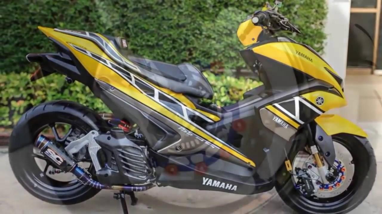 Download 39 Modifikasi Yamaha Aerox 155 Cc Terbaik Gendoel Motoer