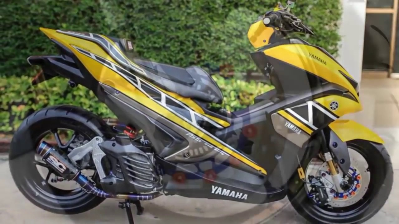 Download 39 Modifikasi Yamaha Aerox 155 Cc Terbaik Gendoel Motoer