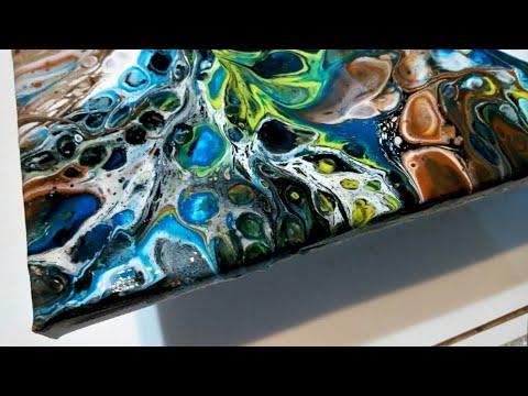 """Техника """"Грязный стакан"""" в АКРИЛОВОЙ ЗАЛИВКЕ.AcrylicFluidPouring.FluidArt"""
