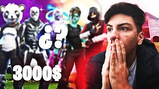 REACTING TO THE BEST SKINS OF MY SUBS/ OUTFITS FORTNITE - PRIMPUCHO
