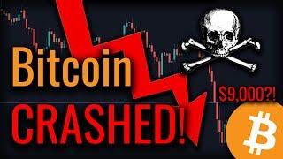 Bitcoin Is Breaking BEARISH! Bitcoin Headed For $9,000?!