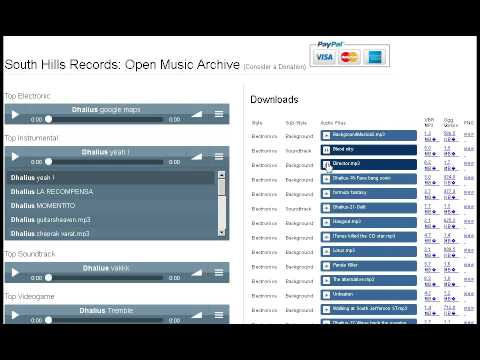 South Hills Records : Open Music Archive DEMO