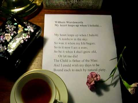my heart leaps up when i behold by william wordsworth