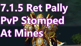 WoW Legion - 7.1.5 Retribution Paladin PvP - Stomped At Mines - Battleground w/Commentary