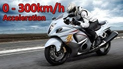 Suzuki Hayabusa GSX1300R - Acceleration 0-300km/h & Startup & Exhaust Sound & Burnout & Dyno