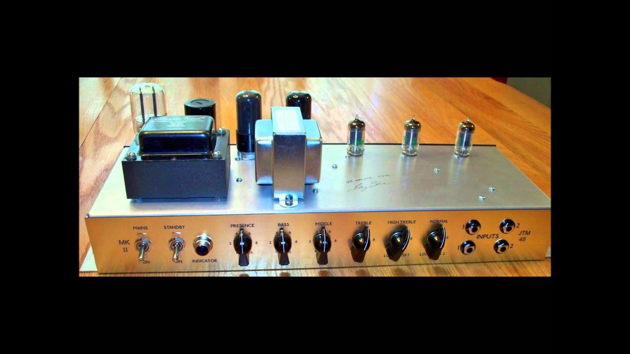 18 Watt Marshall JTM45 Clone GR amps Clean Sound Clip wmv