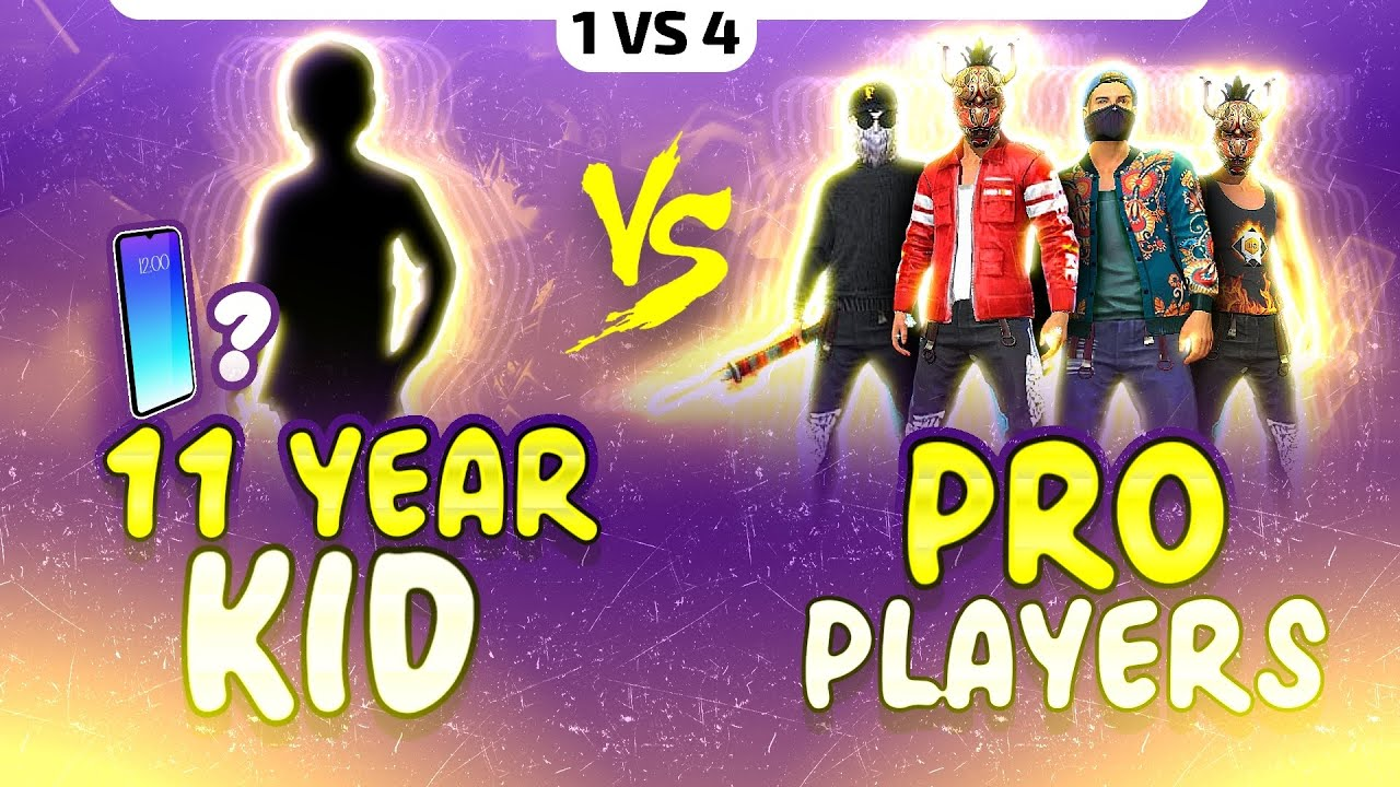 11 Years Kid 😱 Vs Pro Players || Free Fire Highest Headshot Rate Player ? - Garena Free Fire