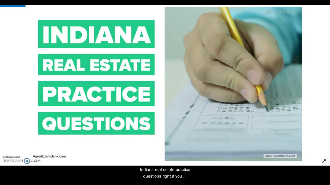 Indiana Free Real Estate Practice Exam