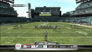 CGRgameplay - MADDEN NFL 11 (XBOX 360) Eagles Vs. Giants Gameplay Part 1
