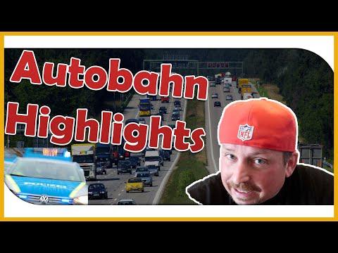 Unter Drogen auf der Autobahn, Krasses Video.Highlights von der Autobahn #7