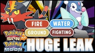 pokmon sun and moon leaked types of starter final evolutions this was wrong