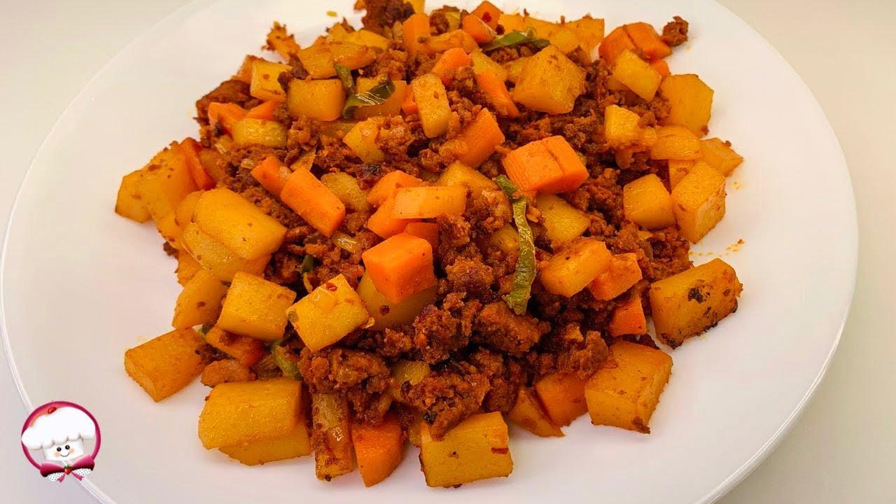 Como hacer papas con chorizo una receta fácil y deliciosa con zanahoria | papas con chorizo